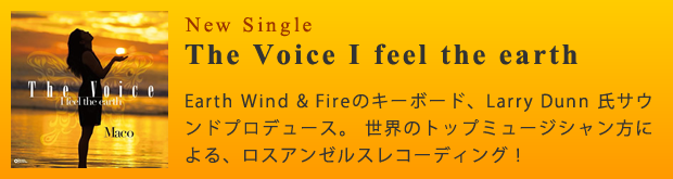 3rd Single『The Voice I feel the earth』